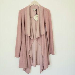 KNOX ROSE Misty Pink Open Cardigan